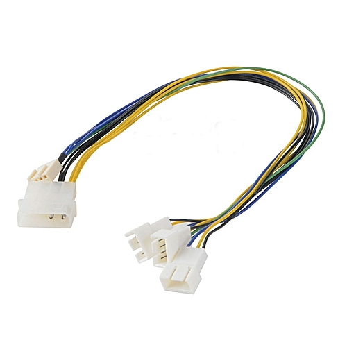 Akasa AK-CB002 PWM Splitter Smart Fan Cable Supports 3 PWM Fans From A Single Motherboard Header