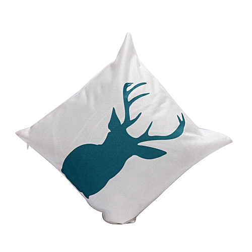 Houseworkhu Christmas Pillow Case Sofa Waist Throw Cushion Cover Home Decor D -White