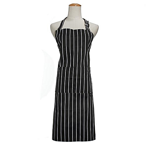 Striped Butchers Chef Cooking Kitchen Catering Apron Bib With Baking Pocket