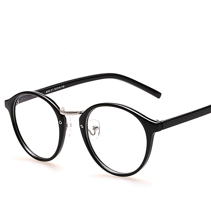 e5bc6be622 Black Eyeglasses Frames With Clear Lens Retro Optical Frame Round Vintage  Eye Glasses Frame Spectacle Eyewear