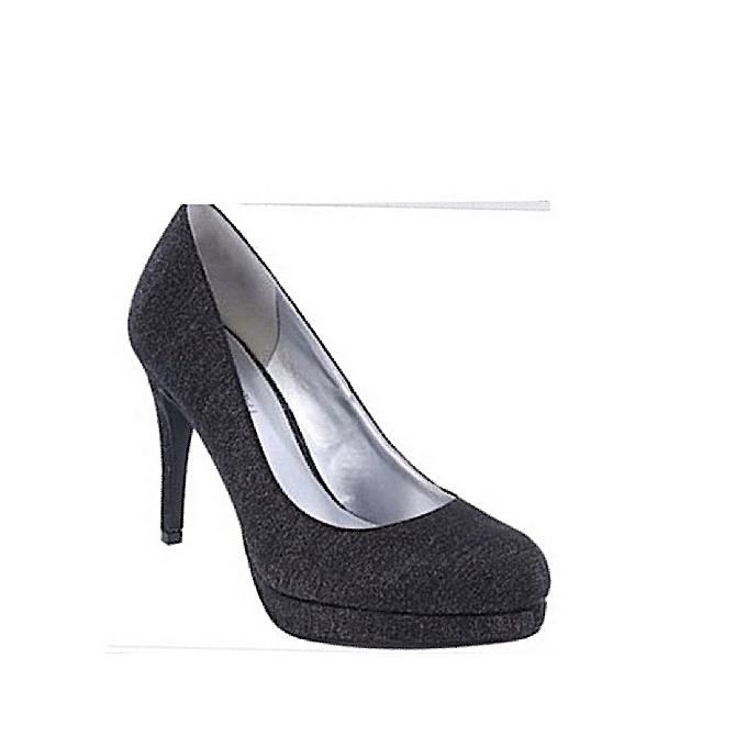 94988065231 Women's Glitter Platform Office Pump - Black - US Size 8