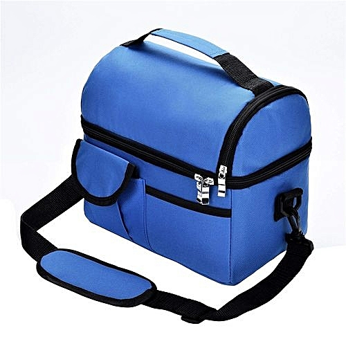 Double Thicken Heat Preservation Insulation Lunch Bag/Travel Pack-Blue