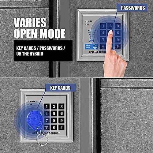 Electric Magnetic Door Lock Access Control Card Password Door Security System Kit EU Plug