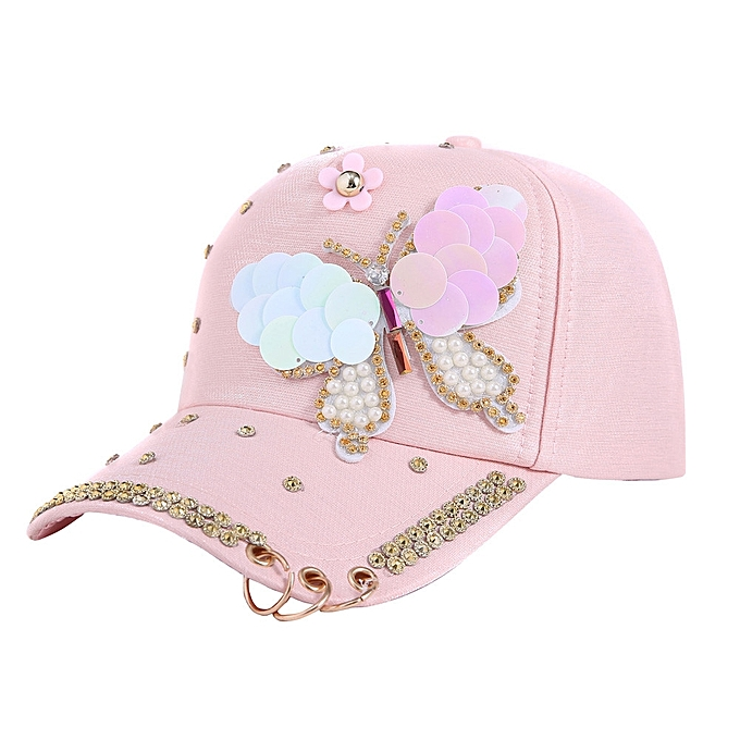 Shitucs Hat Women s Baseball Cap Hip Hop Adjustable Performance Curve Cap  With Ring-Pink 6a73f1eb1