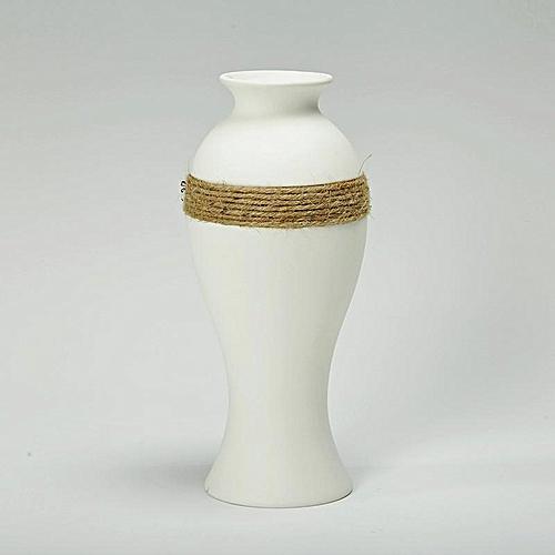 Modern Simple Ceramic Vase White Porcelain Flower Vase Decor For Office Garden