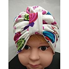 2c38cdf1b84 Hiaojbk Store Newborn Toddler Kids Baby Boys Girls Turban Beanie Hat  Headwear Cap-White