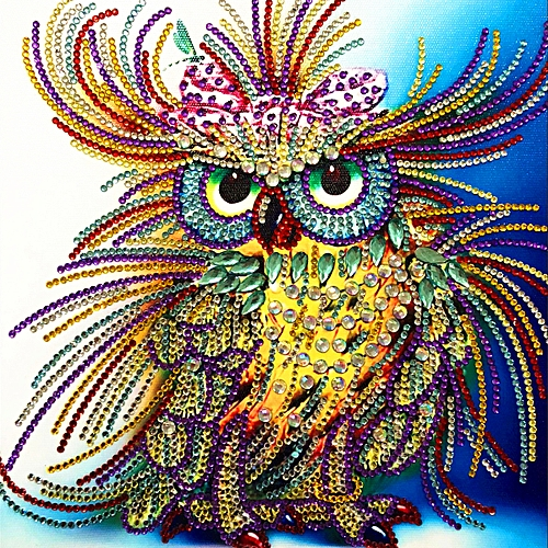 Colorful Owl Special-shaped Drill DIY 5D Diamond Painting Crystal Rhinestone