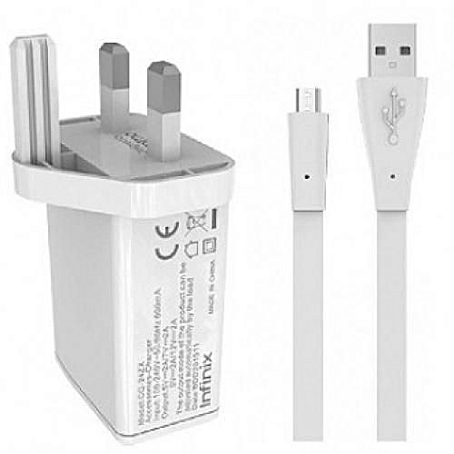 Phone Charger - 12V, 2A Quick Charge For Android Phones & Tablets With Fast Data USB Cable- Fast Charging- White