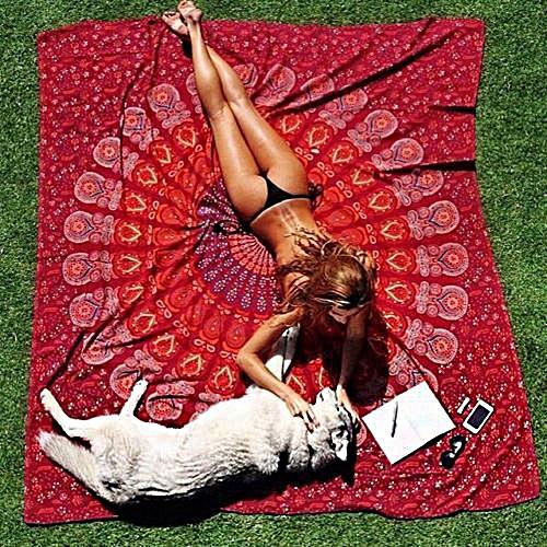 Honana WX-17 150x210cm Bohemian Style Polyester Fiber Beach Towel Shawl Mandala Rectangle Bed Sheet Tapestry