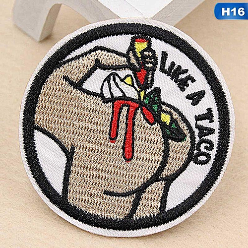 Eleganya Fashion Circular Creativity Exquisite Cute Style Embroidery Cloth Stickers H16