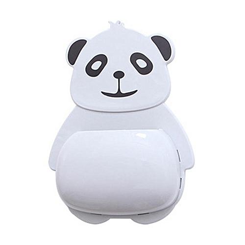 Eleganya1 PC Cute Little Panda Design Cartoon Super Suction Hangable Toothbrush Holder