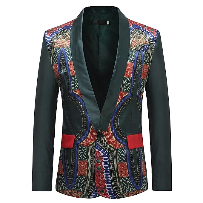 6b6d9d849c7 Generic Men s Dashiki Floral Suit Jacket Blazer EU S-3XL