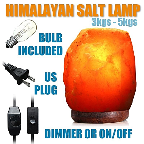 Natural Himalayan Ionic Air Purifier Rock Crystal Salt Lamp Night Light 3-5 Kgs Dimmer Switch