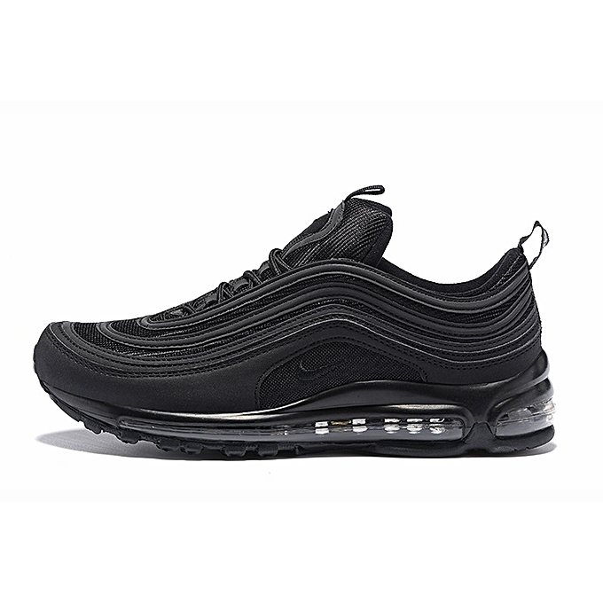 ed420ca10d Women And Mens 2018 Air Max 97 Premium SE Triple Black Gold AA3985-001 Shoes
