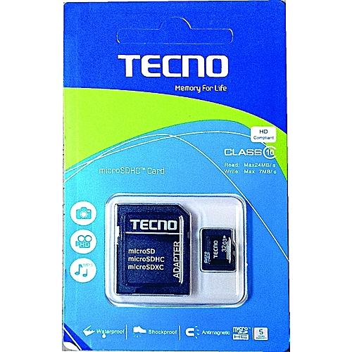 32GB Micro SDHC TF Memory Card Class 10 W/ SD Adapter For Phones Tablet