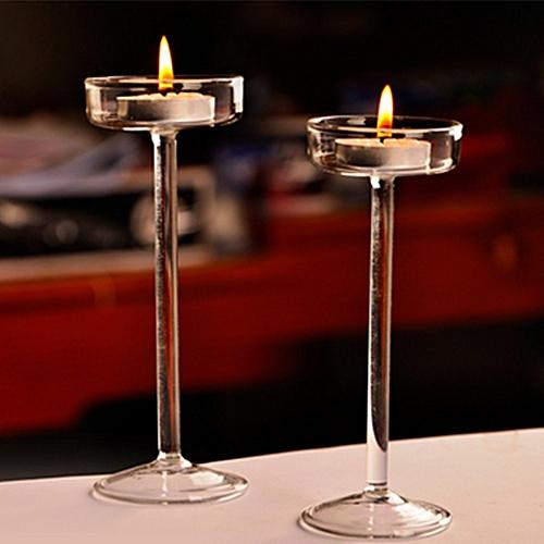 Elegant Crystal Glass Candle Holder Tealight Wedding Home Decor Candlestick