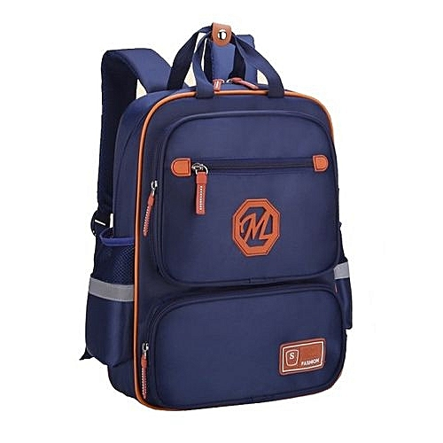 Waterproof Children's School Backpack For Boys & Girls - Navy Blue