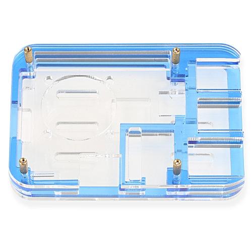 Acrylic 5-shell Assembled Rainbow Case For Raspberry Pi 3 Model B / 2B / B + - Blue