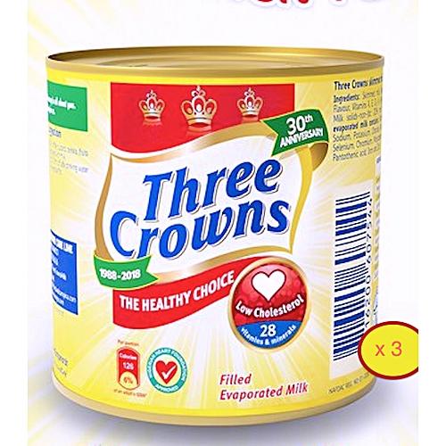 Three Crowns Evaporated Milk 160g X 3