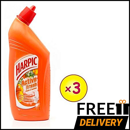 Toilet Cleaner: Peach & Jasmine 725ml - Pack Of 3