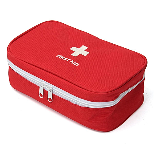 Large 23*13*7.5cm Portable Empty First Aid Bag Kit Pouch Home Office Medical Emergency Travel Rescue Case Bag Red