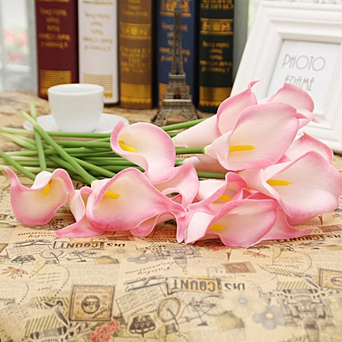 New Arrival 6 Colors Flower Party Fake Bridal Home Calla Artificial Flowers Bouquet Wedding