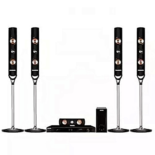 DVD HOME THEATRE SYSTEM WITH 4 TALL BOYS SPEAKER (PV-HT520)