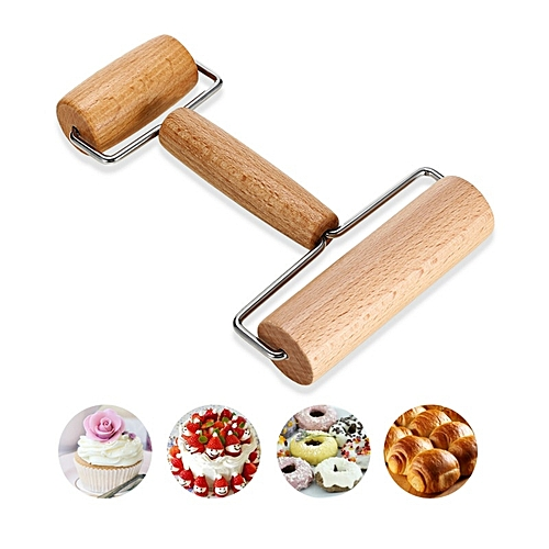 Wooden Baking Stick Rolling Pin Fondant T Type Baking Stick Cake Dessert Cooking Kitchen Tool