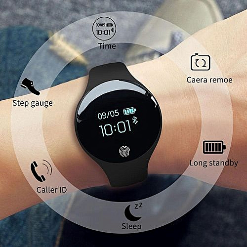 Fashion Waterproof Bluetooth Smart Watches Sport Intelligent Pedometer Fitness Black Wrist Watch