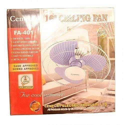 """Century 16"""" Orbit Ceiling Fan With Wall Control - 16 Inches"""