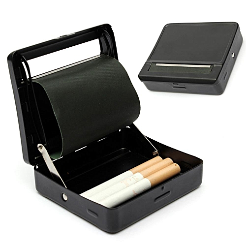 Automatic Cigarette Tobacco Rolling Machine Metal Roller Box Case Tin Up Black H Black