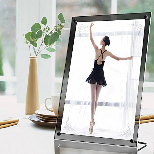 Acrylic Photo Frame Panel Poster Wall Picture Holder Perspex Clear Display A4
