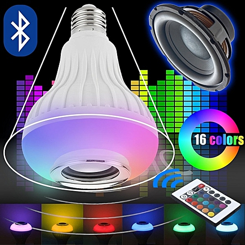 LED RGB Color Bulb Light Bluetooth Control Smart Music Audio Speaker Lamps