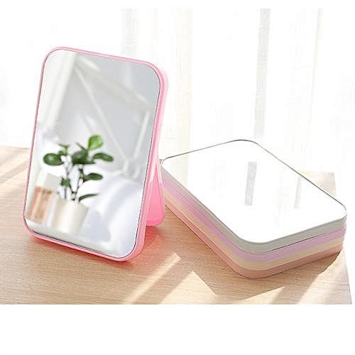 Folding Table Mirror Dressing Mirror Portable Makeup Portable Mirror White