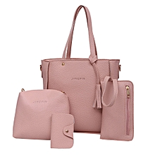 bacd1bec645e Four Set Handbag Shoulder Bags Four Pieces Tote Bag Crossbody Wallet Bags PK