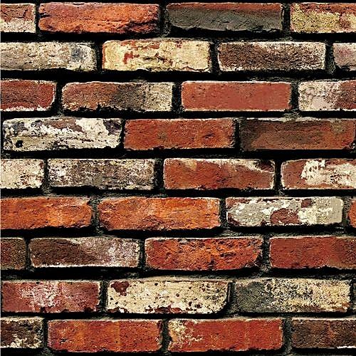 "3D Wall Paper Brick Stone Rustic Effect Self-adhesive Wall Sticker Home Decor -Multicolor (17.7""*39.3""/45 * 100cm)"