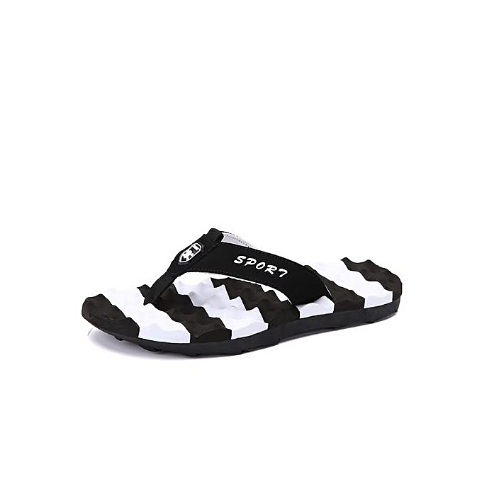 8d4586035607 Fashion Super Large Size Summer Men Flip Flops Outdoors   Indoor Slippery Beach  Sandals Slippers -black
