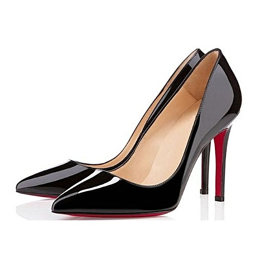 Pointed Toe Court Shoes - Black