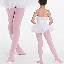 7550c3be201 Children  039 s Girls Ballet Dance Tights Footed Seamless Solid  Stockings-Pink