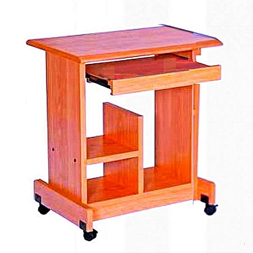 Teamster Mobile Wooden Computer Table - (Delivery Within LAGOS Only)