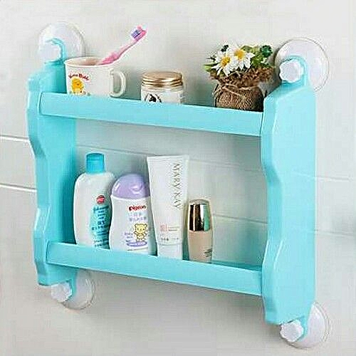 Kitchen/Bathroom Double Layer Storage Shelf- Colour Differs