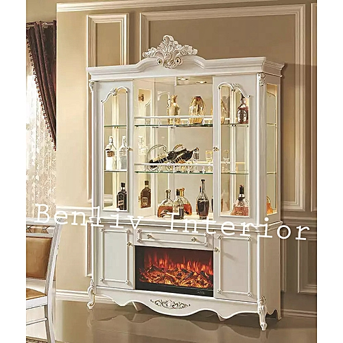 Royal Wine Bar Stand With Fire Place (Lagos Only)