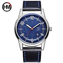 032d60106f9 New Arrival Fashion Casual Blue Dial Calendar Date Wristwatch Quartz Men  Top Brand Luxury Men