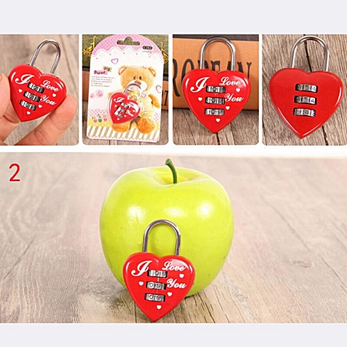 Fashion Padlock Password Lock For Travel Bag Backpack Handbag Box Luggage 5.5 * 4cm (Long * High)