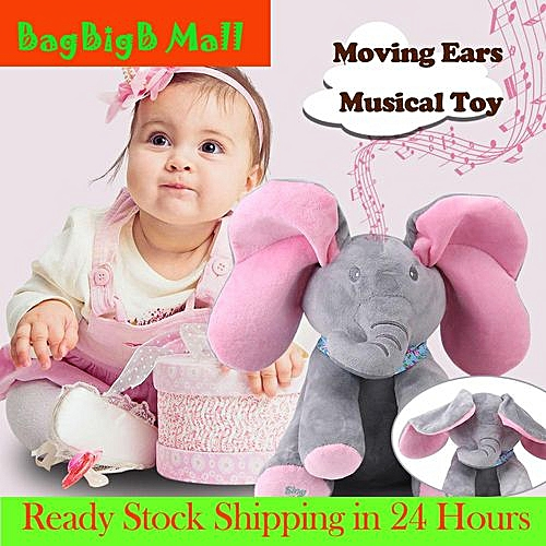【Baby Loves It】Talking & Singing Plush Elephant Stuffed Animal Interactive Doll Toy For Baby Infants Best Birthday Gift