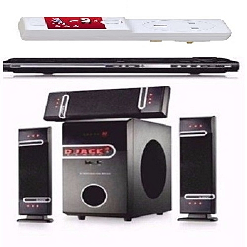 Powerful Bluetooth Function - DJ-D3L + Powerful DVD Compatible + Free Surge Protector
