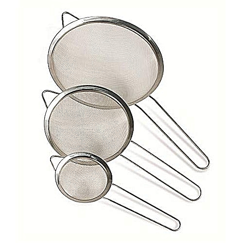 Stainless Steel Strainer (3 Pieces) - Large Size