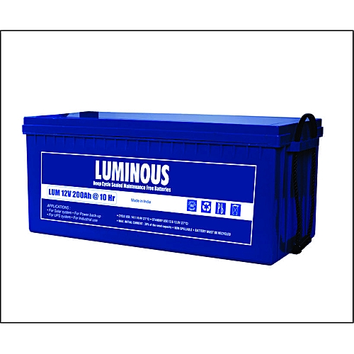 Luminous 200AH/12V C10 SMF Inverter Batteries