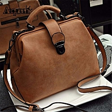 5f6f7323eb Women Ladies Handbag Shoulder Bag PU Leather Messenger Bag Satchel Purse  Tote Bag Brown
