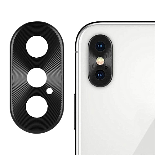 For IPhone XS Max/XS/X Rear Back Camera Metal Protector Protective Lens Case Rin Black